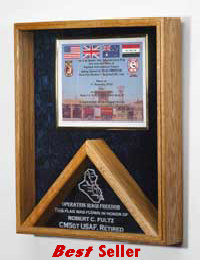 Combination flag and certificate case image
