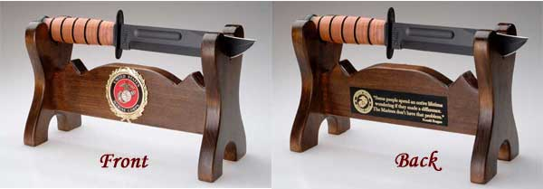 military knife stand