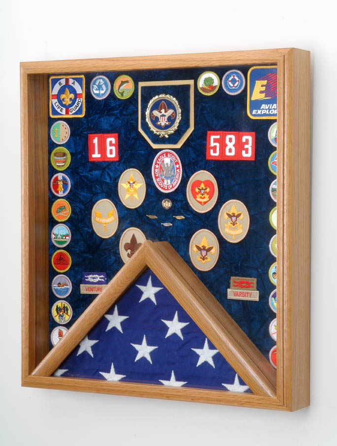 Combination Scout Awards Display Case