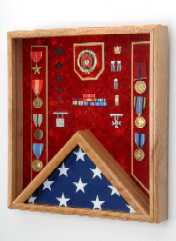 Combination Awards and Flag Shadow Box