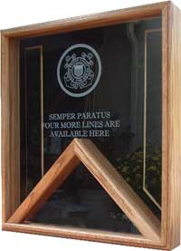 Engraved Combination Flag and Display Case