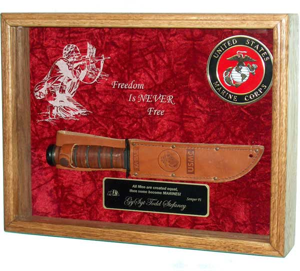 fighting knife shadow box