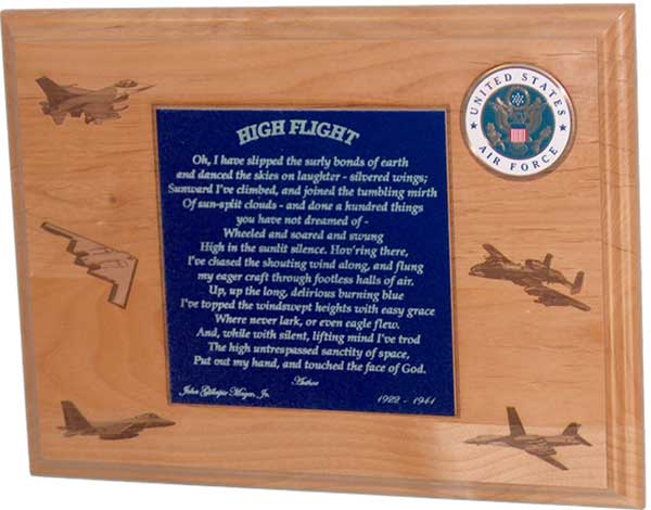 aviator plaque