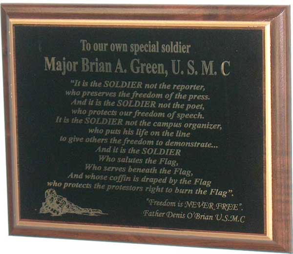 soldier plaque