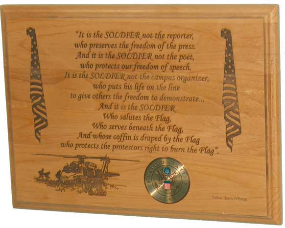 soldier poem plaque