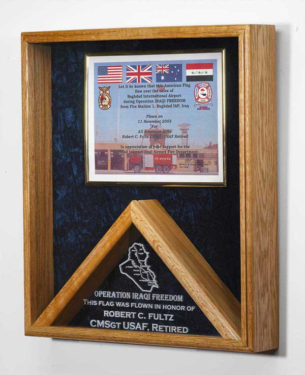Flag and Certificate Display Case